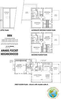 Prospective layout for the BRIN model in the Amabel Pocket Neighborhood.