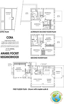 Prospective layout for the CORA model in the Amabel Pocket Neighborhood.