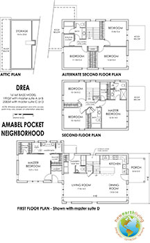Prospective layout for the DREA model in the Amabel Pocket Neighborhood.